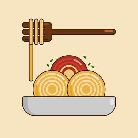Vector illustration of spaghetti. Suitable for World Food Day, delicious, and any other food theme 일러스트