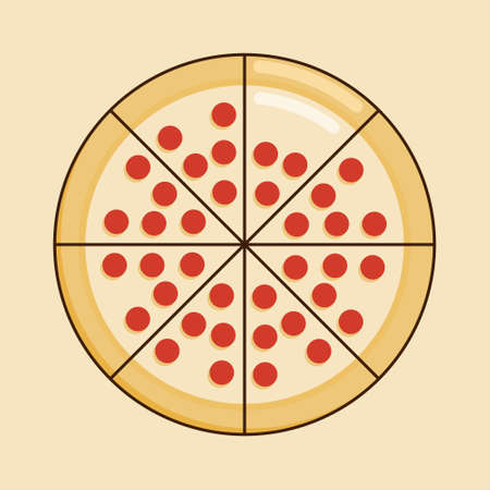 Vector illustration of a Pizza. Suitable for World Food Day, restaurant, meal, and other food theme. 일러스트