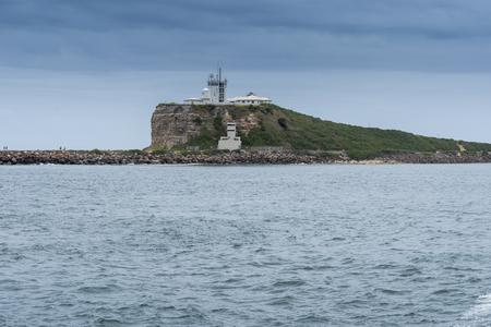 Nobby's Lighthouse Newcastle Harbour Фото со стока - 118554396