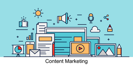 marketing concept: Content Marketing Vector