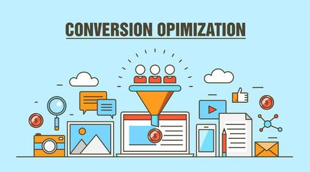 conversion: Conversion Optimization Vector Illustration
