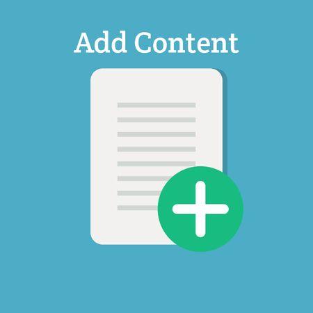 add: Add content, add file icon Illustration