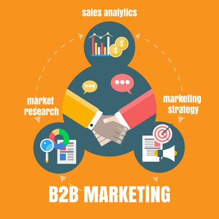 b2b: concepto de marketing b2b