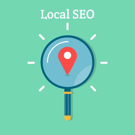 Lokale seo business concept