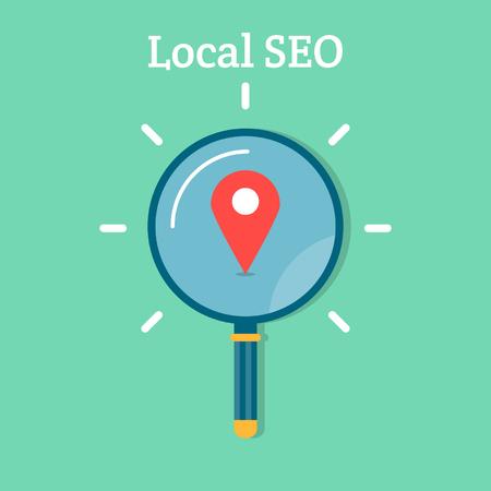 Lokale SEO-Business-Konzept
