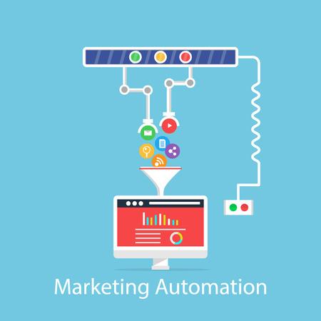 concepto de automatización de marketing