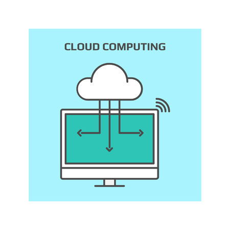 storage data product: Cloud computing, technology conceptual vector icon Illustration