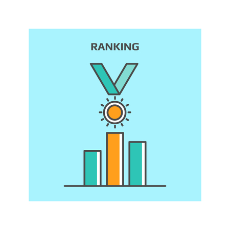 ranking: Search engine ranking concept, Website ranking vector icon