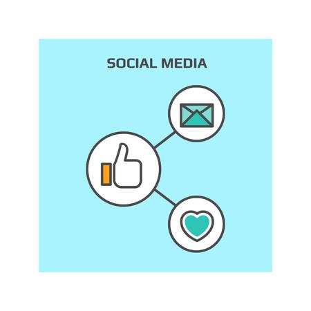 filled: Social media vector icon, Social media concept, Social sharing illustration