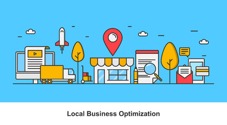 Local business marketing - A concept of local business optimization Banco de Imagens - 63801870