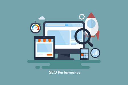 Boost website traffic with successful seo strategy. New startup seo optimization concept. Vektorové ilustrace