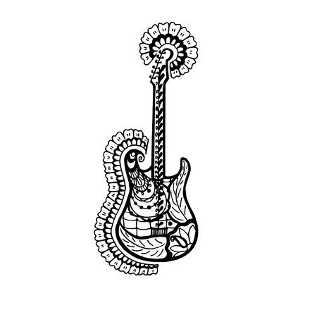 Concepto De La Guitarra Acústica, Ilustración Vectorial ...