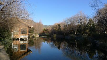 reflection: riverside reflection sky