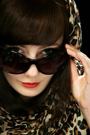 The girl in sun glasses Stock Photo - 13298187