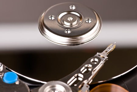 databank: hard disk drive closeup