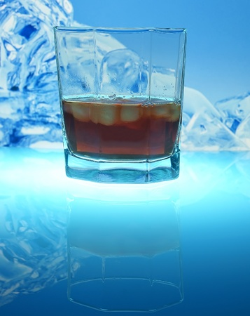 Drink with ice photo