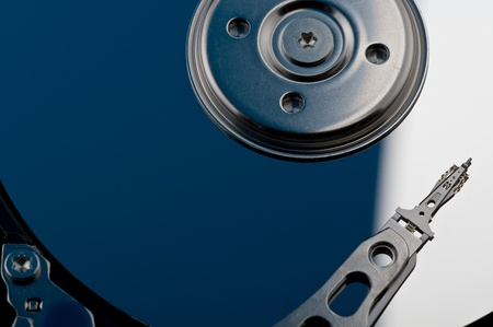 hard disk drive closeup photo