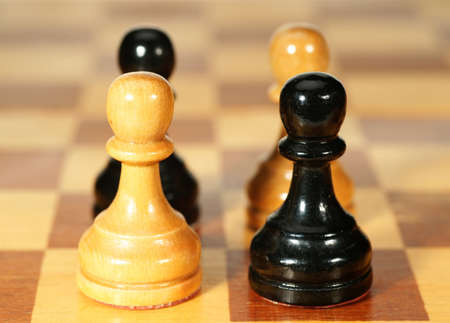 pieces on a chessboard photo