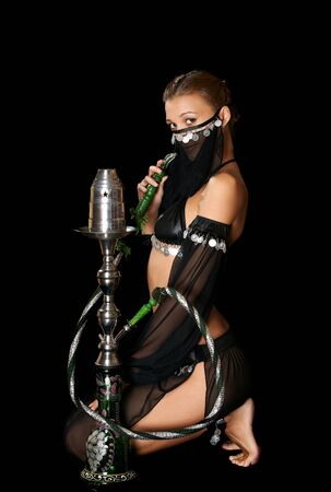 The sexy girl with a hookah Stock Photo - 13402287