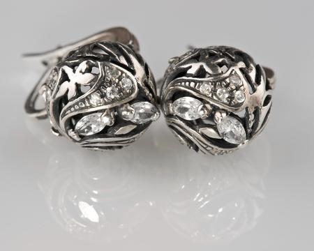 Silver ornaments Stock Photo - 13403040