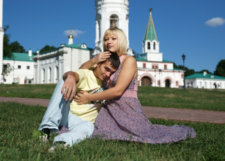 Loving couple in the park Stock Photo - 13414950