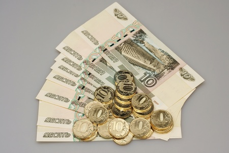Old and new Russian money Stock Photo - 13413211