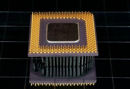 reflexion: The computer processor, photo with reflexion