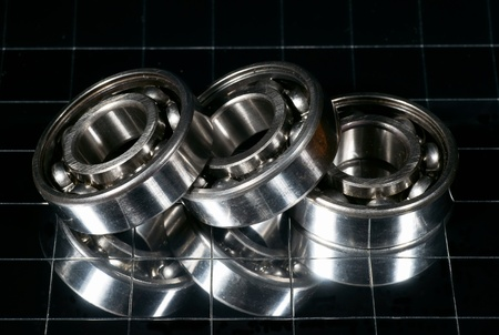The steel bearing, photo with reflexion Stock Photo