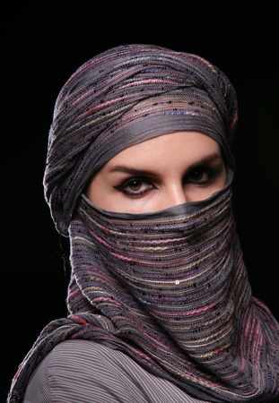 Portrait of a girl in middle eastern clothes. Stock Photo - 13415183
