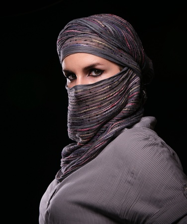 Portrait of the girl in middle eastern clothes.