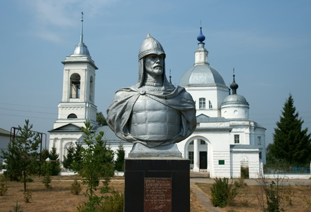 Monument to Alexander Neva in Russia photo