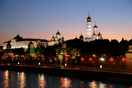 Russia, night, the Kremlin photo