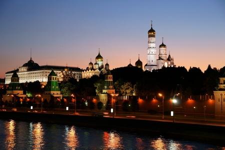 Russia, night, the Kremlin photo