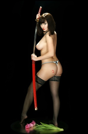 girl with the Japanese sword