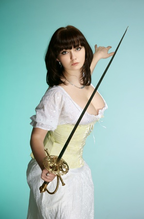 The girl with the French sword photo