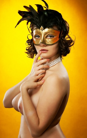 The sexy girl in a mask