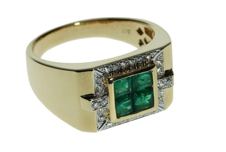 jewelle: Mans gold ring