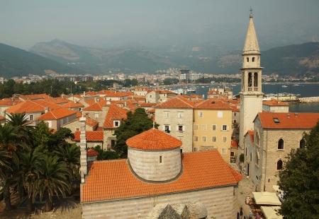 The city of Budva in Montenegro                               photo