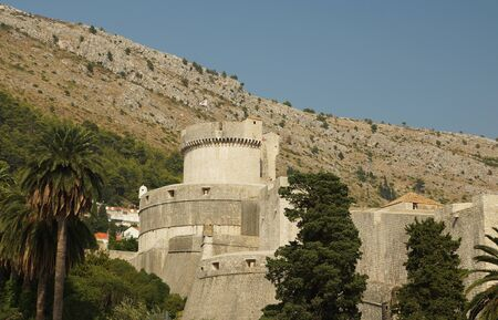 serf: Tour dans une ville de Dubrovnik forteresse, Croatie