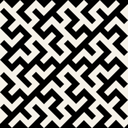 Vector Black and White Maze Ornament Seamless Pattern Background