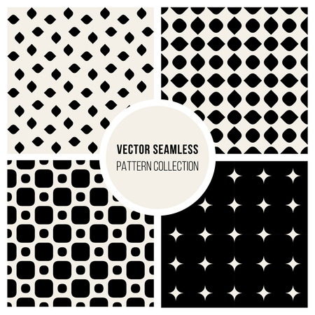tiling: Vector Seamless Black and White Geometric Pattern Collection Background Tiling