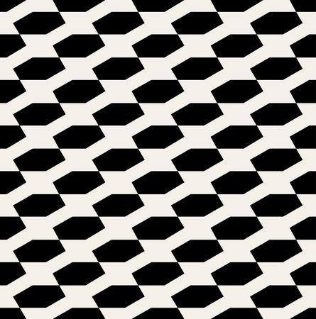 Vector Seamless Black And White Hexagonal Diadonal Pattern Background
