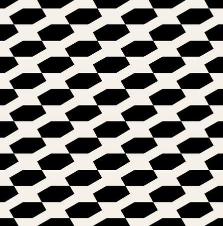 Vector Seamless Black And White Hexagonal Diadonal Pattern Background