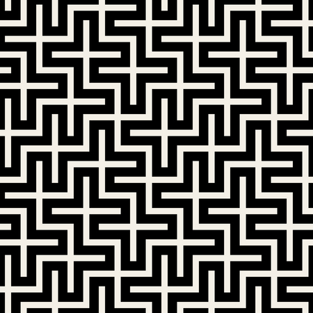 grid pattern: Vector Seamless Black & White Square Maze Grid Pattern Background Illustration