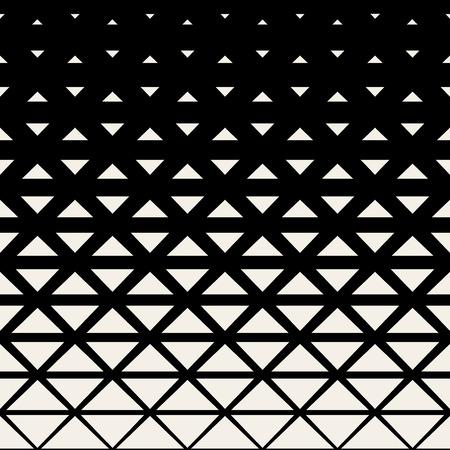 Vector Zwart-wit Driehoek Grid Halftone Achtergrond van het Patroon Stockfoto - 46604319