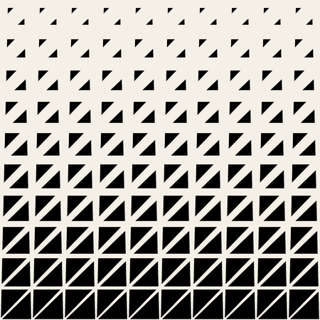 Vector Seamless Black And White Triangle Grid Halftone Pattern Background Stock Illustratie