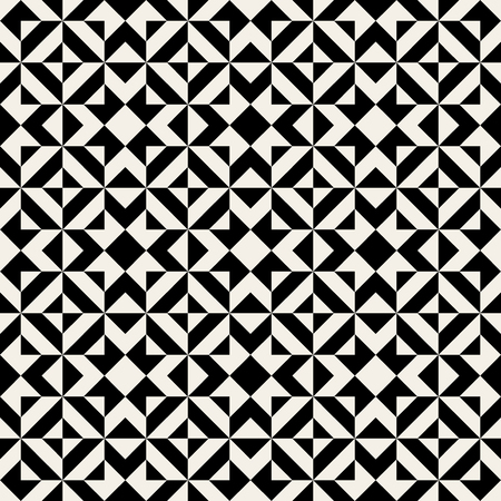 fabric patterns: Vector Seamless Black And White Ethnic Square Pattern Background