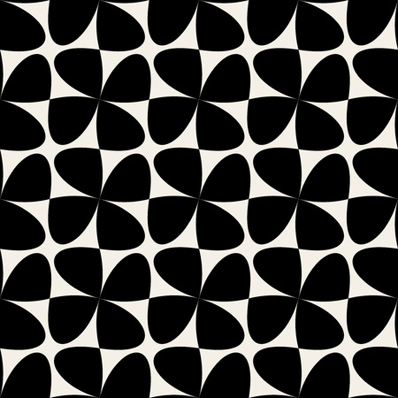 checker: Seamless Black & White Geometric Swirl Cross Checker Pattern Background