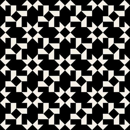 Seamless Black & White Geometric Square Tiling Pattern Background