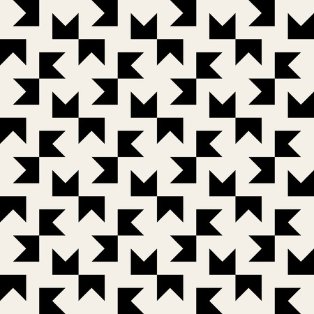 Seamless Black & White Geometric Square Tiling Pattern Background
